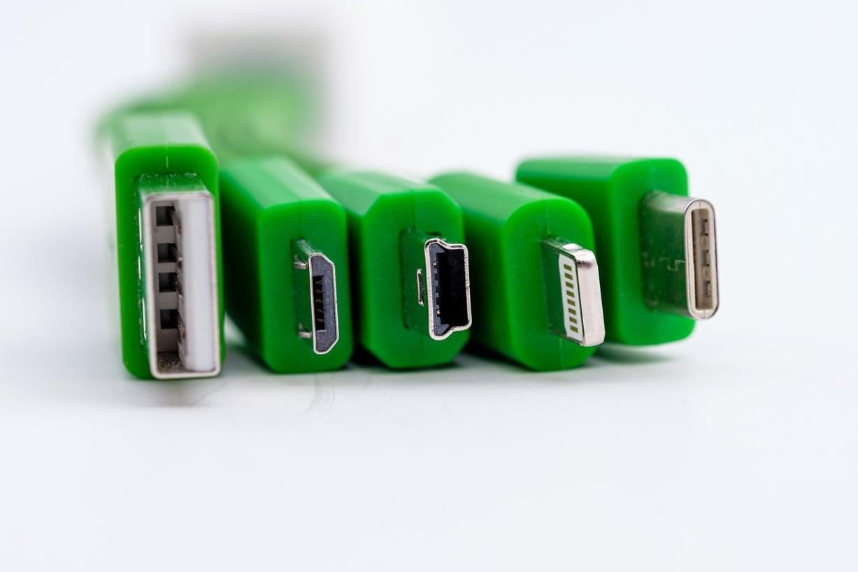 Différents connecteurs USB