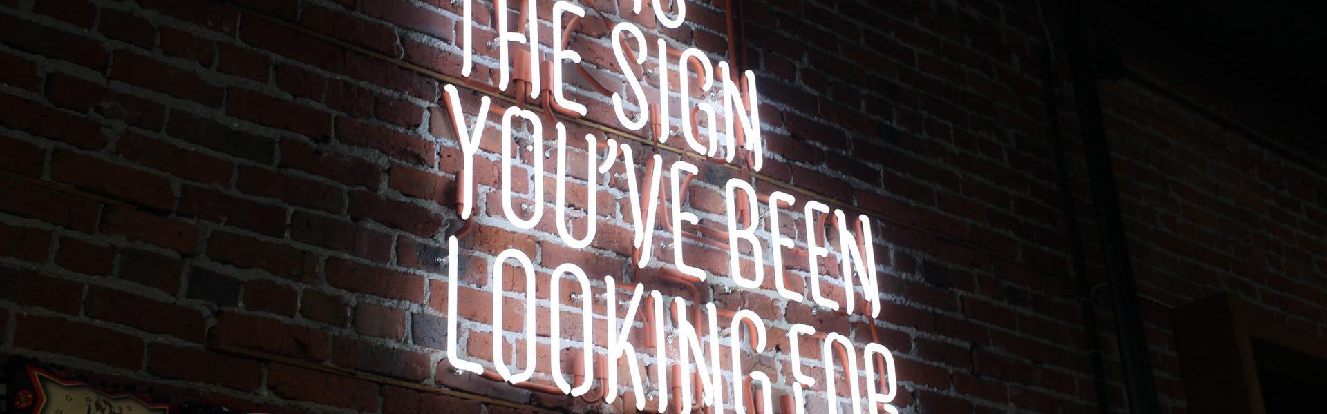 Le signe que tu attendais