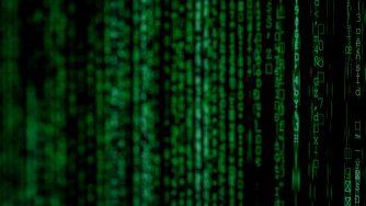écran vert à la Matrix